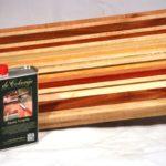 rauwe tungolie met snijplank