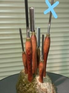 5 delige houtdraaibeitels set